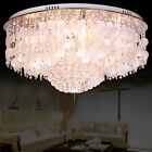 Luxury 7-Light Crystal Flushmount Room  Ceiling Lamp Chandelier Suspended Light