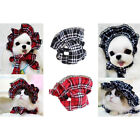 Grid Maid Hat Cosplay Costume Photopraph Decor For Pet Cat Dog Puppy Lace Gift