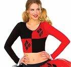 Rubie's Women's Dc Comics Harley Quinn Crop Top