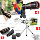 US Clip-on 8X 12X 18X Optical Zoom Telescope Camera Lens fr Universal...