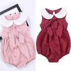 Toddler Baby Girl Sleeveless Floral Romper Jumpsuit Bodysuit Clothes Sunsuit
