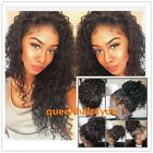 Glueless Brazilian Human Hair curly  Lace Front Full Wigs...