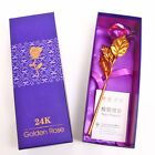 24K Dipped Foil Flower Plated Thanksgiving Valentine's Day Mother Day Gift New