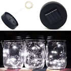 6Pcs LED Fairy Light Solar Mason Jar Lid Lights Color-Changing Home Garden Decor