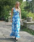 BIG BRAND Blue Hawaian Floral Print Beach Maxi Dress | SALE | 1/2 Price