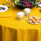 "NON COATED 100% COTTON LOT OF 3 x 72"" ROUND FRENCH TABLECLOTHS MIX MATCH OK (A2)"