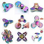 Rainbow Fidget Spinner Metal Hand Spinners EDC Fingertip Gyro Anti Stress Toy UK