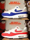 Nike Air Max 1 Anniversary OG 2017 Red Blue Limited 100% Authentic Master Atmos