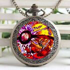 Pocket Monster Magmortar Casual Watch Necklace Stained Glass Cartoon Pocketwatch