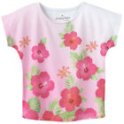NWT Jumping Beans Pink Flowers Tropical Dolman Top Girls Toddler 2T, 3T