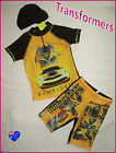 TRANSFORMERS BUMBLEBEE 3pc RASH SET Sz 2 4 6 7 8  Top Trunks & Cap SWIMWEAR Togs