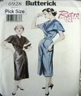 Butterick Sewing Pattern 6928 Ladies 20-24 Retro 50s Shawl Collar Dress