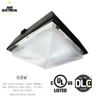 60W-90W LED Slim Canopy Light 5000K, Gas Station Daylight, UL/DLC Ceiling Light