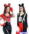 Sexy Mickey Mouse & Minnie Mouse Womens Couples Costume