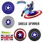 CAPTAIN AMERICA SHIELD SPINNER FIDGET FINGER TOY EDC FOCUS ADHD AUTISM METAL UK