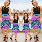 Family Dress Mother and Daughter Matching Floral Womens Girls Long Party Dresses