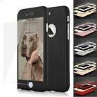 Ultra Thin Slim Hard Case Cover For Apple iPhone 6 / 7 / 7 Plus + Tempered Glass