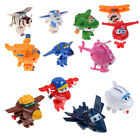 12Pcs/Set Mini Super Wings Robot Airplane Transformer Animation Character Toys