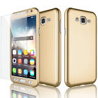 For Samsung Galaxy J7 2015 /J700 360° Full Protection Case Cover +Tempered Glass