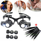 Kyпить 10/15/20/25X LED Eye Jeweler Watch Repair Magnifying Glasses Magnifier Loupe USA на еВаy.соm