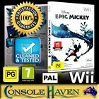 (Wii Game) Epic Mickey / Mouse (Disney) (PG) (Platformer) PAL, Guaranteed