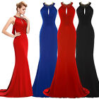 Mermaid Long Dress Bridesmaid Carpet Ball Prom Gown Formal Evening Party Wedding