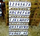 Portuguese Glazed Ceramic Relief House NUMBERS & LETTERS Tile Hand Painted Sign
