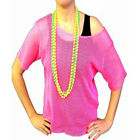 80s Retro Style Child's Mesh Net Top Neon Pink, Neon Green or Turquoise