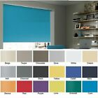 ** Bargain* ROLLER BLINDS - UNICOLOUR straight edge - Colour CYAN