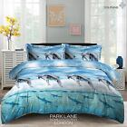 DOLPHINS ANIMAL PRINT 3D Duvet Cover Bedding Set with Fitted sheet & Pillow case