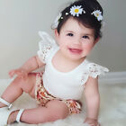 Summer Toddler Baby Girl Lace Casual T-shirt Vest  Sleeveless Tank Top Plain Tee