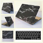 """2in1 Black Marble Hard Case Cover Thin Shell for MacBook 12"""" Air Pro 11""""13""""15"""""""