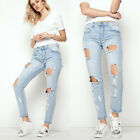 Women Pencil Stretch Casual Denim Skinny Jeans Pants High Waist Trousers Handy