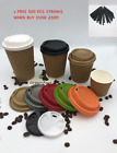 KRAFT RIPPLE WALL COFFEE PAPER CUPS 4oz 8oz 12oz 16oz Disposable LID Hot Drinks* <br/> INSULATED RUPPLE TRIPLE WALL WAFFLE WEAVED PARTY CUPS