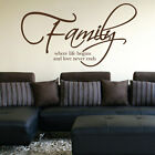 Family - Where Life Begins and Love Never Ends - Wall Art Sticker