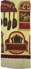 """Set of 4 Chef & Cafe Printed Terry Kitchen Towels Size: 15"""" x 25"""""""