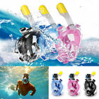 Easy Breath Surface Snorkeling Mask Full Face Dry Snorkel Scuba Swimming Diving
