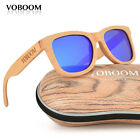VOBOOM Men's Women's Bamboo Sunglasses Polarized Luxury Beech Wood Eyewear