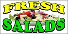 (CHOOSE YOUR SIZE) Fresh Salads DECAL Concession Food Truck Sticker