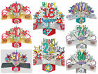 3D Pop Up Birthday Cards ~ -18th,21st,30th,40th.50th.60th.70th.80th Age