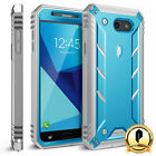 For Galaxy J7 (2017) Poetic Revolution Case With Built-In Screen Protector Blue