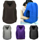 Chic Inflatable Pillow Car Airplane Face Cradle Single Color Soft Air Cushion