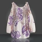 Fashion Women Long Sleeve Shirt Casual  Floral Leopard Blouse Loose Tops T-Shirt