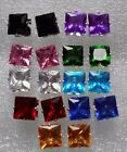 Crystals square large studs earrings in 9 different colours + free stoppers