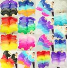PAIRS 1.5M 1.8M BELLY DANCE 100% SILK FAN VEILS FREE SHIPPING + carry bag  9999