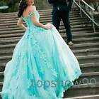 Unique Lace Ball Gown Mint Green Prom Dresses Tulle Quinceanera Dress Wedding