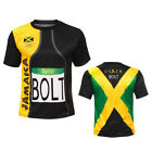 New Men Sports Usain Bolt Rio T Shirt Jersey Jamaica 2018 Fast Shipping image