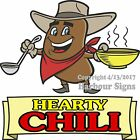 Hearty Chili DECAL (Choose Your Size) Soup Food Truck Concession Vinyl Sticker