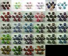 Elemental Poly 7 Dice RPG Set Gold Black Red Green Teal Pink Hurricane Grey Dice