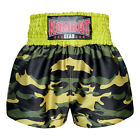 NEW MUAY THAI BOXING SHORTS TRUNKS ARMY SOLDIER MICRO FABRIC  CAMOUFLAGE